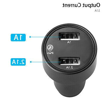 Tracking Device USB Fast Charger LED Voltmeter