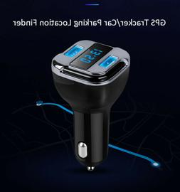 Dual USB Charger GPS Finder/Tracker/APP Battery Voltage for